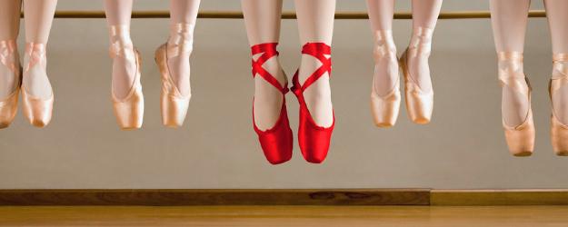 палци балетни обувки