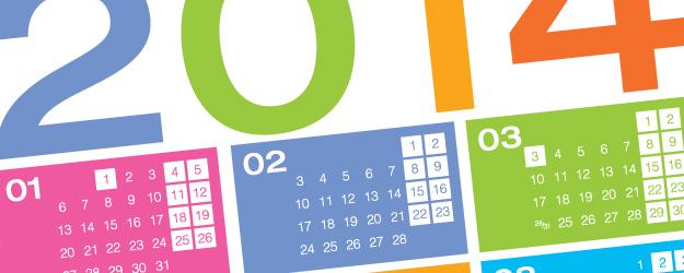 Почивни дни и официални празници през 2014 година